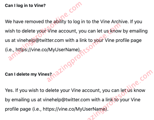 vine co support