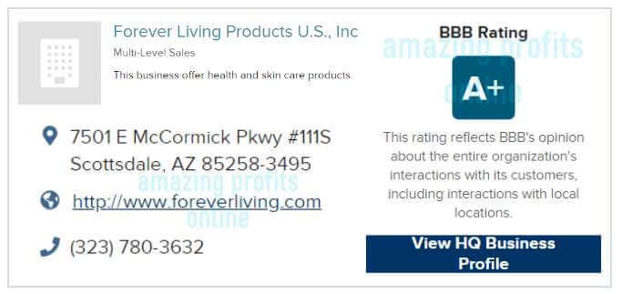 BBB review of forever living