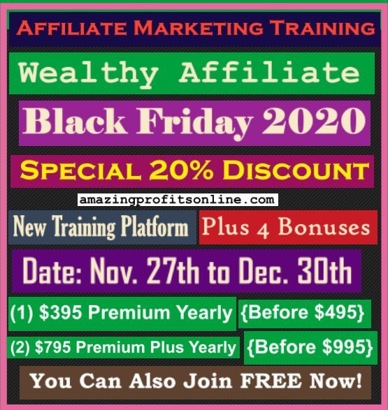 2020 wealthy affiliate black friday deal