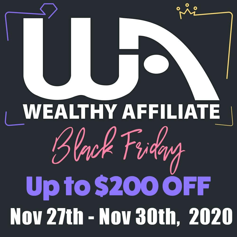 Wealthy Affiliate BlacFriday Bonus and deals